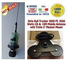 Sirio Bull Trucker 3000 LED 3500W CB/10M Antenna and Heavy Duty Triplex Mount