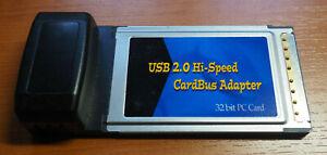 USB 2.0 Hi-Speed Cardbus Adapter, 32 bit PC Card, 4-Port PCMCIA
