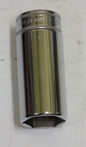 SNAP-ON TOOLS. DEEP SOCKET 22MM. 3/8 DRIVE. ITEM NUMBER  SFS M22. MADE IN USA!.