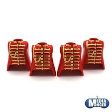 playmobil® 4 x Oberkörper rot gold tailliert   Piraten   Garde   Page   Zirkus