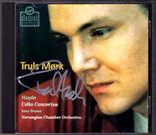 Truls MORK Signiert HAYDN Cello Concerto No.1 2 Iona BROWN Mørk Cellokonzerte CD