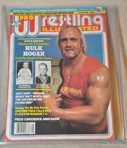 WWF WWE HULK  HOGAN AUTOGRAPHED PRO WRESTLING ILLUSTRATED MAGAZINE