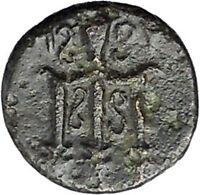 MYLASA in CARIA 210BC Horse Trident Authentic Original Ancient Greek Coin i47475