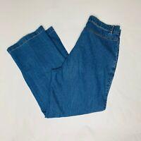 Erika Petite Jeans Womens Size 8P Petite Blue Embroidered Flower Straight Leg
