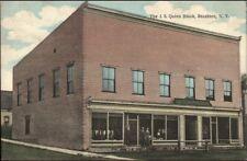 Brushton NY JS Quinn Block c1910 Postcard