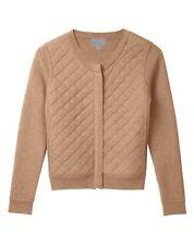 Pure Collection Cashmere Quilt Jacket Camel Size UK 8 Box4606 F