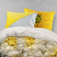 3D Yellow Daisy Quilt Cover Sets Pillowcases Duvet Comforter Cover FC