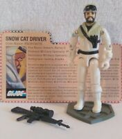 Vintage Hasbro GI Joe ARAH 1985 V1 Frostbite Complete W/File Card HK COO EX+/NM!