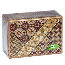SAMURAI Wooden Yosegi Secret Trick Puzzle Magic Medium Box 21 Step/HK125