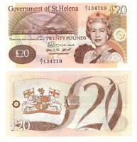 St. HELENA 20 POUNDS (2004) P-13a Queen Elizabeth II UNC A/1 Prefix CV = $150 US