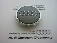 Original Audi Radzierkappe /Audi Nabendeckel/ Audi Nabenkappe mit Chromring
