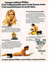 PUBLICITE ADVERTISING 034  1973  PHILIPS   lampes solaires