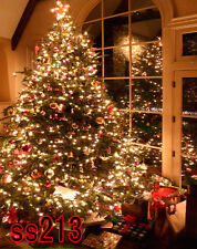 XMAS TREE  5x7 FT CP (COMPUTER PRINTED) PHOTO SCENIC BACKGROUND BACKDROP SS213
