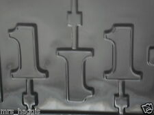 NO 1 NUMBER 1 CHOCOLATE LOLLIPOP LOLLY MOULD MOLD 3 ON 1
