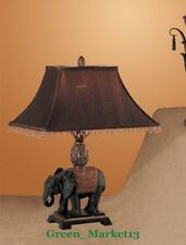 GMPD_24''H Antique Looking Elephant Inspired Decorative Table Lamp-Set of 2