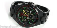 NEW ADIDAS CAMBRIDGE ACRYLIC BLACK W/RED GREEN, YELLOW CHRONOGRAPH WATCH ADH2629