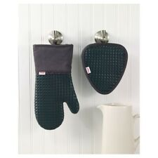 """2pk Waffle Silicone Oven Mitt & Pot Holder 
