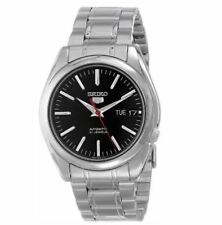 Seiko SNKL45K1 Automatic Silver Stainless Steel Black Dial Red