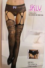Ladies Sexy Fish net  Suspender Tights /Open Crutchless Panty Hose Underwear