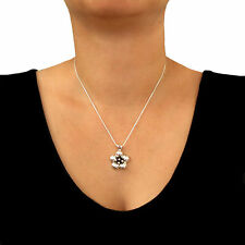 Flower Blossom 925 Sterling Taxco Silver Chain Necklace 45cm