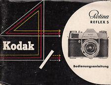 Kodak retina reflex s-Original Mode d'emploi Nº 351