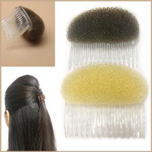 8cm Hair Puff Bun Bump Magic Shaper Foam Comb Slide Fashion Styler Holder Braid