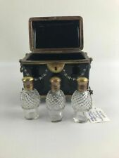 Mary Gregory Style Black Glass Casket Box- Lot 815