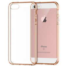 iPhone SE Case, Shock-Absorption Bumper Clear Cover for iPhone 5s 5 RoseGold
