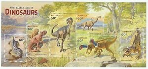 2013 'AUSTRALIA'S AGE OF DINOSAURS' MINI SHEET - WITH 6 MNH STAMPS
