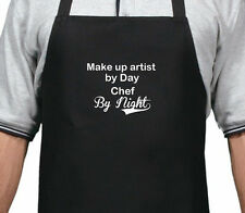 PERSONALISED MAKE UP ARTIST BY DAY CHEF BY NIGHT APRON XMAS BIRTHDAY GIFT