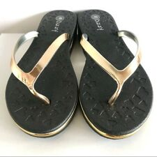 98a8a77b4 New With Tags Dizzy Black With Gold Accent Flip Flops Sz. 7