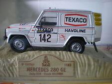 voiture miniature mercedes 280 ge 5° PARIS DAKAR de 1983