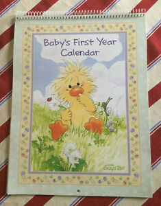 SUZY'S ZOO CALENDAR Baby's First Year Calendar CURRENT USA
