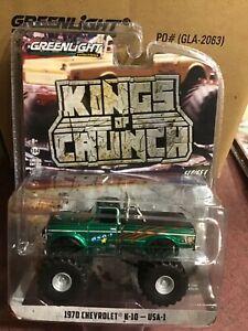 Greenlight Kings Of Crunch  1970 Chevrolet K-10 Monster Truck USA1 GREEN MACHINE