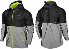 Nike Men's Shield Flash Running Reflective 3M Jacket Black Volt 619424-010