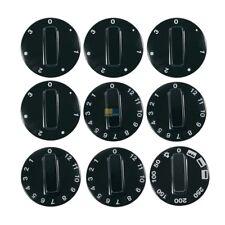 poignées tournantes 9 TEILIG universel interrupteur bouton poignée noir Four