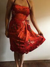VINTAGE Rare1940's Kamehameha HAWAIIAN PINUP DRESS Monroe Hollywood Glamor Beach