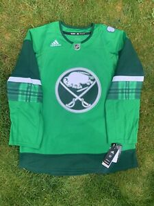 Adidas Buffalo Sabres St. Patricks Day Jersey Size 52