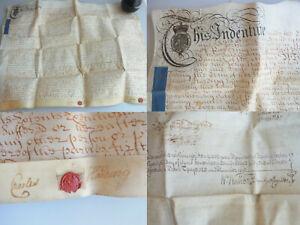 Pergament-Urkunde (English Parchment) 1757: Mills IN Pickering, North Yorkshire