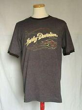 Harley-Davidson Mens Brown T-shirt Medium Crew Neck Short Sleeve Print HD 2005