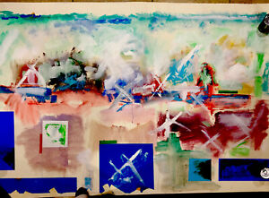 "MAJOR (88"" X 48"") WORK BY AMERICAN ABSTRACTIONIST IRA DAVIDOFF 1924-2004"