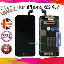 Black For iPhone 6s 4.7' LCD Full Touch Screen Digitizer Home Button Camera UK