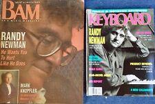 RANDY NEWMAN - KEYBOARD MAG (FEB..89) + BAM MAG (OCT..88) -  (2) COVER STORIES