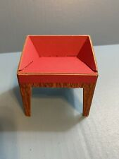 Pink Cardboard Vanity Chair from Barbie's First Dream House - 1962 Excellent!