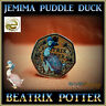 2016 BEATRIX POTTER COIN JEMIMA PUDDLE-DUCK COLOUR 50p FIFTY PENCE PETER S1