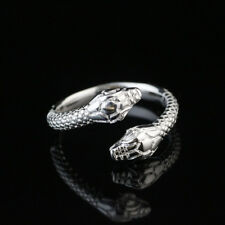 925 Silver Women/Men New Fashion Snake Ring Adjustable Size Open Jewelry Gifts