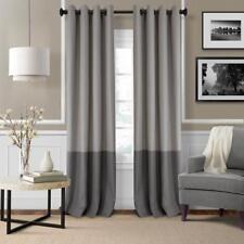 "Elrene Braiden Gray Blackout Grommet Single Curtain Panel - 52"" W x 95"" L"