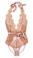 L'agent By Agent Provocateur Taupe/Gold Iana Bodysuit Size M Luxurious