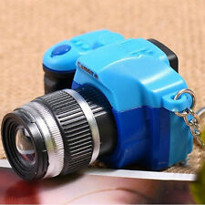 Mini Realistic SLR Camera Shape Keychain With Flash Light Luminous LED Charm