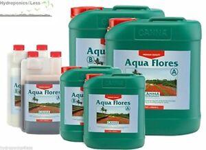 Canna Aqua Flores A+B Flower Bloom Plant Nutrients Hydroponics 1, 5 & 10 Litre